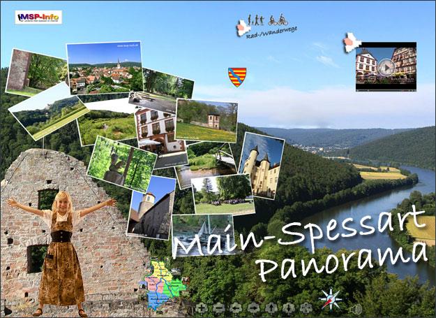 Main Spessart - Panorama 360 Grad von der Urlaubsregion und Naturlandschaft Main-Spessart